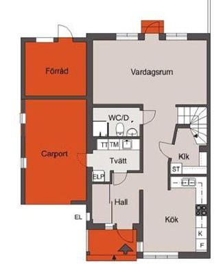 Planlösning bottenvåning 127