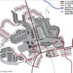 Förslag på nya vägar i området