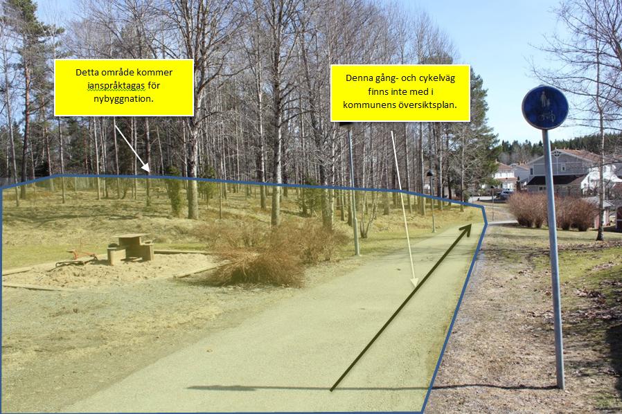 Figur 5, Gång- och cykelväg som inte finns med i översiktsplanen.
